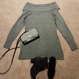 Gray sweater!